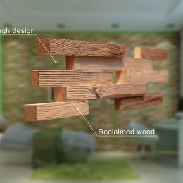 mediena ant dazytos sienos